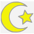 Islamic star and crescent yellow.PNG