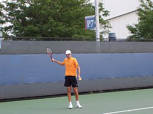 photo taken by me: Ivo Karlovic practicing at ...