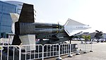 JASDF Nike-J missile launcher right rear view at Hamamatsu Air Base Publication Center November 24, 2014.jpg