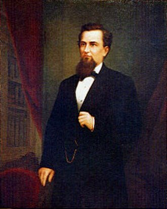 J. Neely Johnson - Portrait of Johnson by William F. Cogswell