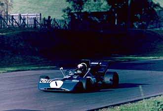 Jackie Stewart - Stewart on his way to third place in the World Championship Victory Race at Brands Hatch in 1971