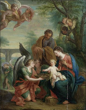 Jacob Andries Beschey - Image: Jacob Andries Beschey The Rest on the Flight into Egypt