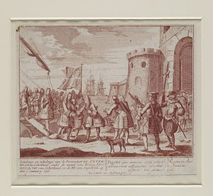 Jacobite risings - Broadside image: the Pretender, Prince James, Landing at Peterhead on 2 January 1716