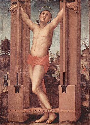 Saint Quentin - The martyrdom of Saint Quentin, Jacopo Pontormo
