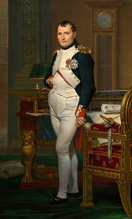 Napoleon in 1812 Jacques-Louis David - The Emperor Napoleon in His Study at the Tuileries - Google Art Project 2.jpg