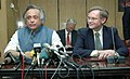 Jairam Ramesh and the World Bank President, Mr. Robert Zoellick, at the joint press conference on National Ganga River Basin Authority, in New Delhi on December 02, 2009.jpg