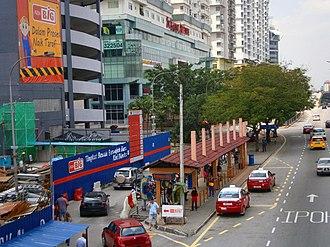 Subang Jaya - Jalan Kemajuan Subang facing Northeast, with AEON BiG (formerly Carrefour Subang Jaya) and Subang Avenue on the right.