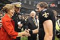 James Conway & Drew Brees at Saints Military Appreciation Game 2009-11-02 2.JPG