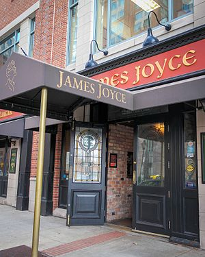 History of the Irish in Baltimore - The James Joyce Pub in Harbor East, April 2015.