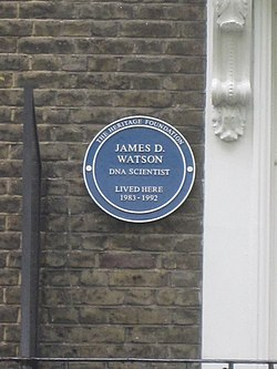 James watson plaque