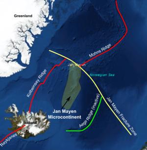 Jan mayen fracture zone map