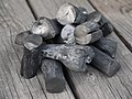 Japanese Binchōtan (Japanese high-grade charcoal produced from ubame oak).jpg