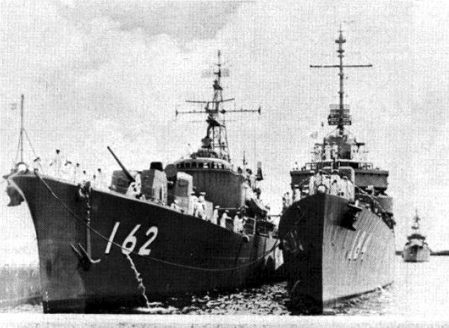 Japanese destoyers Teruzuki (DD-162) and Yugure (DD-184) at Guam c1962
