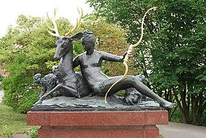 Henry II style - Diane appuyée sur un cerf by Goujon