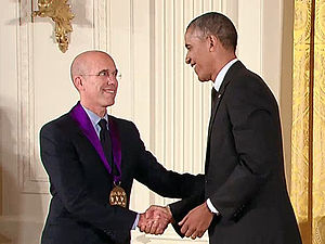 Jeffrey Katzenberg - United States president Barack Obama presenting to Katzenberg the 2013 National Medal of Arts