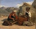 Jeune fille de Sonnino ôtant une épine du pied à une de ses compagnes - 1828 - Léopold Robert.jpg