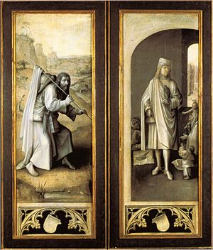 The Last Judgment (Bosch triptych) - The closed triptych.