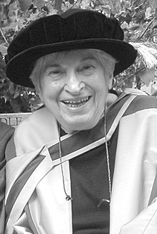 Jo Estill in a photograph taken at the award of her honorary doctorate in London on 2004-09-10