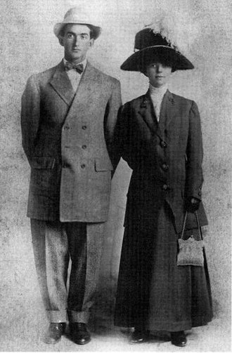 Shoeless Joe Jackson - Jackson and his wife Katie on their wedding day in 1908