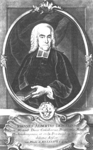 Johann Albrecht Bengel - Johann Albrecht Bengel