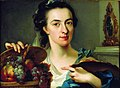 Johann Nikolaus Treu and sister Catharina - Portrait of Catharina Treu with her Fruit Still Life.jpg
