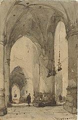 Interieur van de Sint Bavokerk in Haarlem
