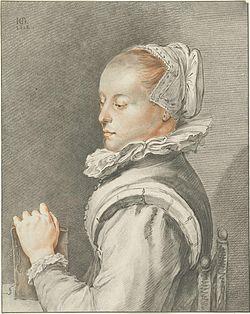 Johannes Körnlein - portrait of Maria Tesselschade Visscher.jpg
