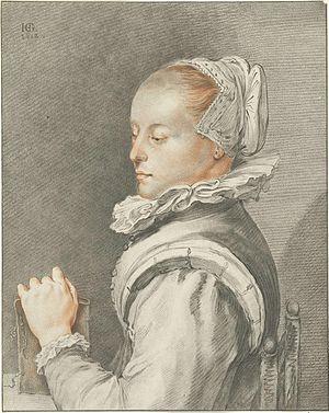 Maria Tesselschade Visscher - Image: Johannes Körnlein portrait of Maria Tesselschade Visscher