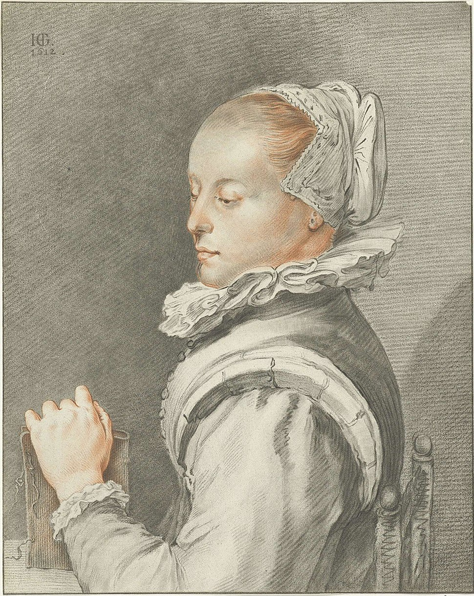 Johannes K%C3%B6rnlein - portrait of Maria Tesselschade Visscher