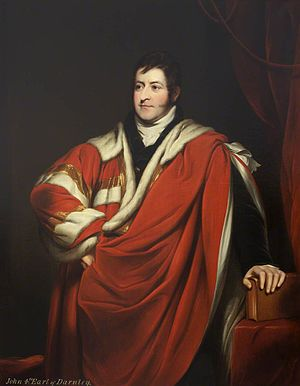 John Bligh, 4th Earl of Darnley - Portrait of the Earl of Darnley attributed to Thomas Phillips