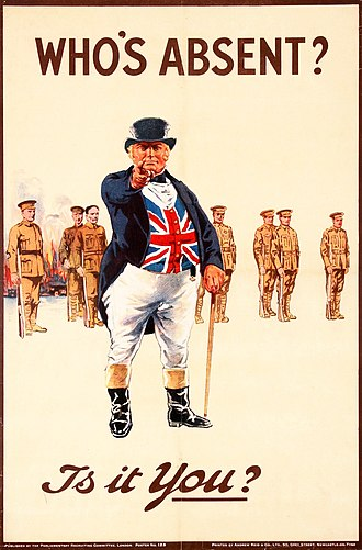 John Bull - World War I recruiting poster