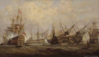 HMS Royal George (1756) - Loss of the Royal George (painting by John Christian Schetky)