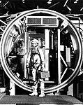 John Glenn Enters the Altitude Chamber for Test.jpg