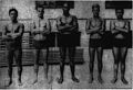 John Kelii, George Cunha, Duke Kahanamoku, Harold Kruger, and Clarence Lane, 1916.jpg