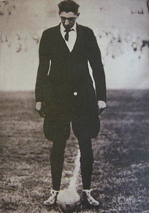Estadio Centenario - Belgian referee John Langenus on the pitch before the 1930 FIFA World Cup Final