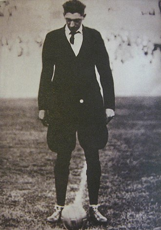 Estadio Centenario - Belgian referee John Langenus on the pitch before the 1930 FIFA World Cup Final