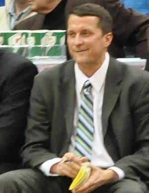 John Loyer - Loyer in January 2012 at the Target Center in Minneapolis, as Pistons assistant coach