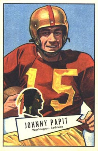 John Papit - Papit on a 1952 Bowman football card