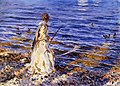 John Singer Sargent - Girl Fishing at San Vigilio 1913.jpg