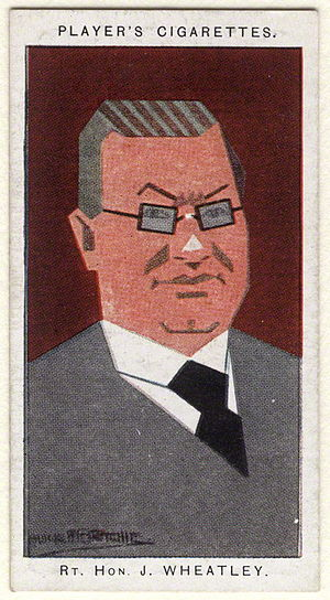 John Wheatley - Cigarette card depicting Wheatley