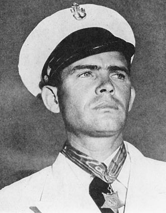 John William Finn - John William Finn wearing his Medal of Honor