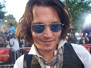 American actor Johnny Depp signing autographs ...