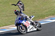 Lorenzo festeggia la vittoria nel Gran Premio del Giappone del 2009.