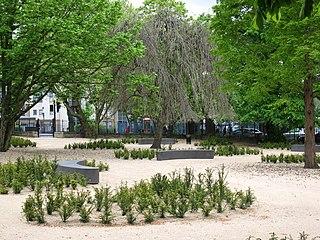 Joseph Grimaldi Park public garden in Islington, London, UK