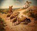 Jourdan-Berger et son troupeau sous le mistral.jpg