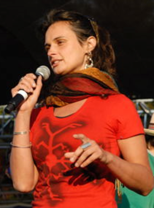 Julia Butterfly Hill - Hill speaks at the Harmony Festival in 2009.