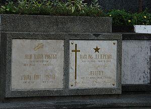 Julie Vega - Julie Vega's final resting place at the Loyola Memorial Park in Marikina City.