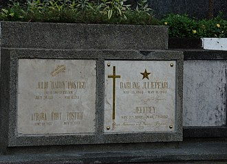Julie Vega - Julie Vega's final resting place at the Loyola Memorial Park in Marikina City.