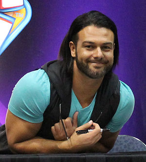 Justin Gabriel - Lloyd at WrestleMania XXX Axxess in 2014