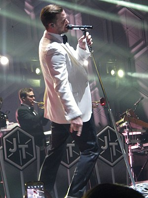 The 20/20 Experience World Tour - Timberlake performing in February 2014.